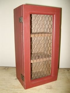 Add Chicken Wire to cabinet doors for rustic see thru display look; Upcycle, Recycle, Salvage, diy, thrift, flea, repurpose!  For vintage ideas and goods shop at Estate ReSale & ReDesign, Bonita Springs, FL