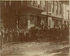 William Jennings Bryan spoke to an immense crowd in Deadwood in August,1899.  Bryan spoke from a stand in front of the Deadwood Opera House, which was located across from the site later occupied by the Franklin Hotel.