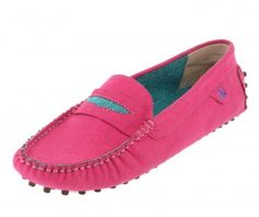 Pink Hagan Driving Shoes - Loafers - Collection | Oh my the PINK!  Love.