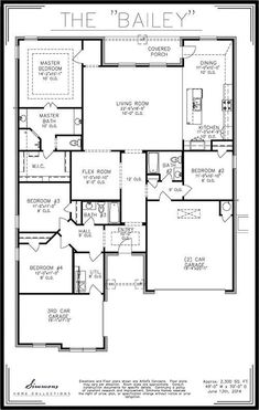 Front elevation of simmons homes bailey plan simmons for Simmons homes floor plans