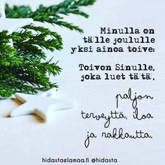 ❤️ #lahja #joulunsanoma #joulu #rakkaus #terveys #ilo