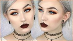 90's Grunge Glam Autumn Leaves Makeup | Evelina Forsell