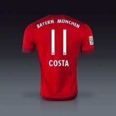 Adidas Douglas Costa Bayern Munich Home Jersey 15/16#MiaSanMia