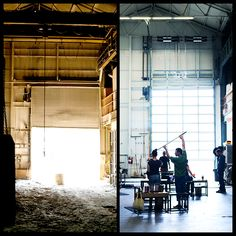 In honor of our 11th Anniversary, here's a blast from the past! We've compiled a few before-and-after images of our factory here in Beacon, New York. The times have changed, but the use stays the same: crafting handmade products in New York state!