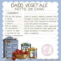Dado vegetale fatto in casa, senza olio di palma e glutammato!!!
