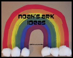 A plethora of ideas to teach the story of Noah's Ark - free printables, craft ideas, songs, poems, books, snack ideas, and coloring pages.