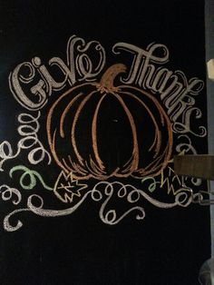 Thanksgiving chalkboard wall, 2013