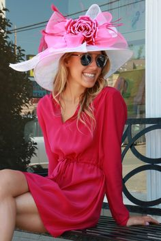 Amanda Uprichard Spring Silk Dress // Dior So Real Sunglasses // DVF Nude Wedges // Kentucky Derby Hat // snapped by gracie