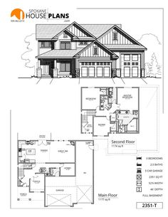 2351-T | Spokane House Plans Two Story House Plans Two Story Homes