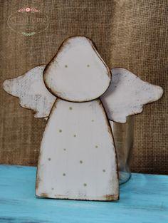 aniołek drewniany, ręcznie malowany, hand made, dekoracja świąteczna, Boże Narodzenie
