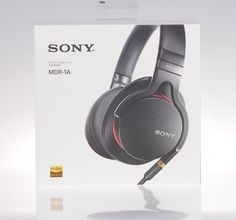 New Sony MDR-1A Premium Hi-Res Stereo Headphones Black USA Shipper