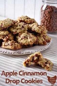 Chocolate No Bake Cookies, Apple Cookies, Cinnamon Cookies, Cinnamon Chips, Drop Cookies, Apple Cinnamon, Vegan Recipes Easy, Apple Recipes, Pumpkin Recipes