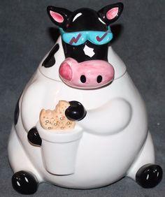 Cool Cow Cookie Jar Treasure Craft 1996
