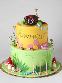 Super cute Lady Bug cake by Sweet Disposition Cakes