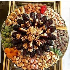 Ramadan Recipes, Sweets Recipes, Moroccan Breakfast, Date Nut Bread, Party Food Platters, Chocolate Sweets, Dried Fruit, Food Presentation, Food Pictures