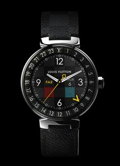 First Louis Vuitton Smart Watch: Tambour Horizon Big Watches, Best Watches For Men, Stylish Watches, Luxury Watches, Cool Watches, Android Wear Smartwatch, Custom Design Shoes, Tambour, Leather Accessories