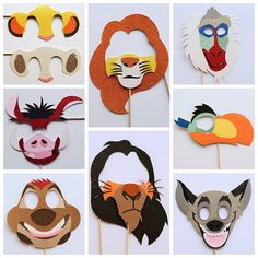 Disney Photo Booth Props Disney Lion King Birthday Party
