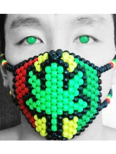 Marijuana Rasta 420 Kandi Mask Surgical