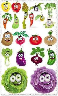 What do you say of these happy vector vegetables and garden plants that, for some reason are all just a big smile. Happy vegetables cartoon vectors 5 EPS v