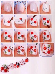 Tutorial frutal! #nails #nailart #nailpolish #tutorial