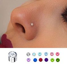 3 mm Magnetic Fake Nose, Ear, Monroe Stud – Top Of The World Fake Piercing, Piercing Nostril, Guys With Nose Piercings, Nose Piercing Jewelry, Cute Piercings, Piercing Bump, Body Piercing, Fake Nose Stud, Fake Nose Rings