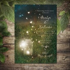garden mason jar lights wedding invitations | http://emmalinebride.com/invites/best-invitations-weddings/