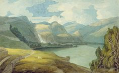 DERWENTWATER LOOKING SOUTH, 1786 BY FRANCIS TOWNE
