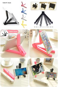 [Visit to Buy] Hot Sale Portable Foldable Adjustable Stand Bracket Holder Mount For iPad ASUS Xiaomi Samsung Pad Tablet PC Tablet Accessories #Advertisement