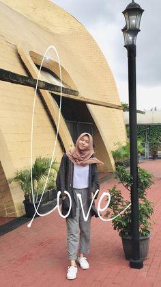 Casual Hijab Outfit, Ootd Hijab, Hijab Chic, Casual Summer Outfits, Muslim Fashion, Ootd Fashion, Korea Fashion, Cute Skirt Outfits, Hijab Fashion Inspiration
