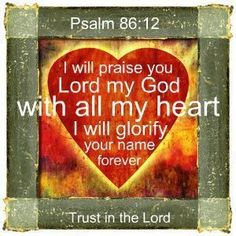I will praise you Lord......