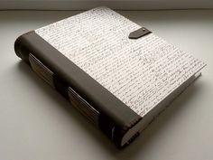 """Kožený zápisník - originálny denník, hladenica, ručná práca / handmade book / bookbinding / long stitch / leather journal / notebook / diary / kožený chrbát/ seria """"Koža & papier"""" / vintage look"""