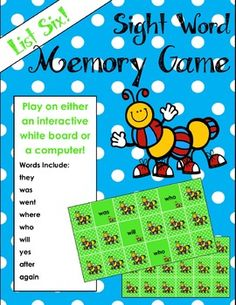 Integrate technology while learning sight words. Great fun!