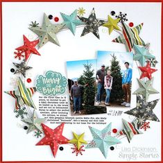 Layout featuring the Oh What Fun Simple Set by design team member Lisa Dickinson