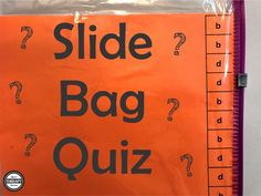 Slide Bag Quiz - Fine Motor and Bimanual Skills - Your Therapy Source Response To Intervention, Pediatric Occupational Therapy, Therapy Tools, Therapy Ideas, Motor Activities, In Writing, Speech And Language, Fine Motor Skills, School Days