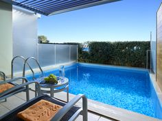 Our Double Rooms in Chania ensure a relaxing stay in their luxury interiors featuring a private pool and sea view. Double Room, Double Beds, Beach Accommodation, Outdoor Pool, Outdoor Decor, Pool Towels, Private Pool, Luxury Interior, Sun Lounger