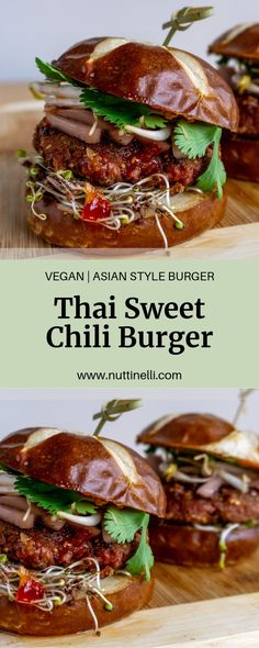 My Vegan Thai Burger recipe is perfect for adding that extra flavor that you want out of a burger. Vegan Lunch Recipes, Burger Recipes, Vegan Dinners, Beyond Meat Burger, Thai Sweet Chili Sauce, Easy Vegan Dinner, Vegan Comfort Food, Vegan Burgers, Recipes