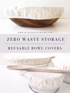 Low Waste Storage Options – Reusable Bowl Covers – Planted in the Woods – Eco-friendly swaps Reduce Waste, Zero Waste, Fee Du Logis, Recycling, Diy Casa, Glass Cooktop, Green Life, Go Green, Sustainable Living