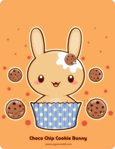 A Chocolate Chip Cookie Truffle Bunny.