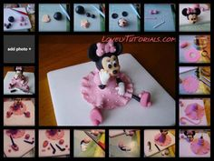 photo tutorial : minnie mouse topper via cakedecoratingtutorials on FB url: http://www.facebook.com/pages/Cake-Decorating-Tutorials/200747390056693