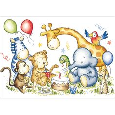 Zoo Party  - Boy's birthday cards from Phoenix Trading  £1.75 per card or £1.40 when buying 10 or more.  Children, Children's birthday cards