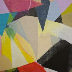 COLOUR AND SHAPE..... snippets from a new canvas! acrylic on linen / erin flannery