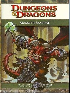 Dungeon Masters Guides 158710: Monster Manual Dungeons And Dragons 4Th Edition New -> BUY IT NOW ONLY: $34.95 on eBay!