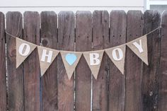 Oh Boy Banner, Baby Showe,r It's a Boy, Bunting by FancyFlamingo