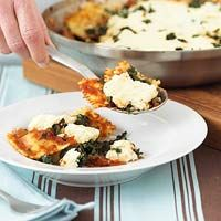 Ravioli Skillet Lasagna- this was pretty good.  You don't need an entire carton of ricotta though, I would use half of the ricotta next time and more spinach.