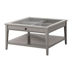 LIATORP Couchtisch - grau/Glas - IKEA