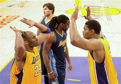 NBA: WESTERN CONFERENCE 1ST ROUND GAME 2  Nuggets 100 Lakers 104 FINAL  Top Performer- K. Bryant 38 Pts, 4 Reb, 2 Ast, 3 Stl, 1 Blk  LAKERS LEAD SERIES 2-0  keepinitrealsports.tumblr.com  keepinitrealsports.wordpress.com