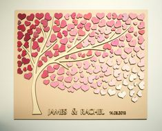 Custom Wedding Guest Book Alternative Tree 3D by HAPPYprojectSHOP