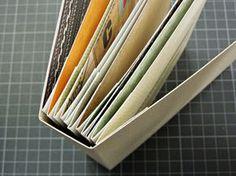 Nice and fast minialbum Mini Albums Scrap, Mini Scrapbook Albums, Stampin Up Anleitung, Mini Album Tutorial, Album Book, Book Binding, Smash Book, Book Making, Mini Books