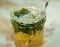 yellow mason jar drinks