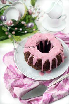 Chocolate Babka with strawberry mousse
